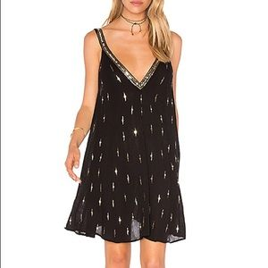 NWT Free People Black Sequinned Slip Dress